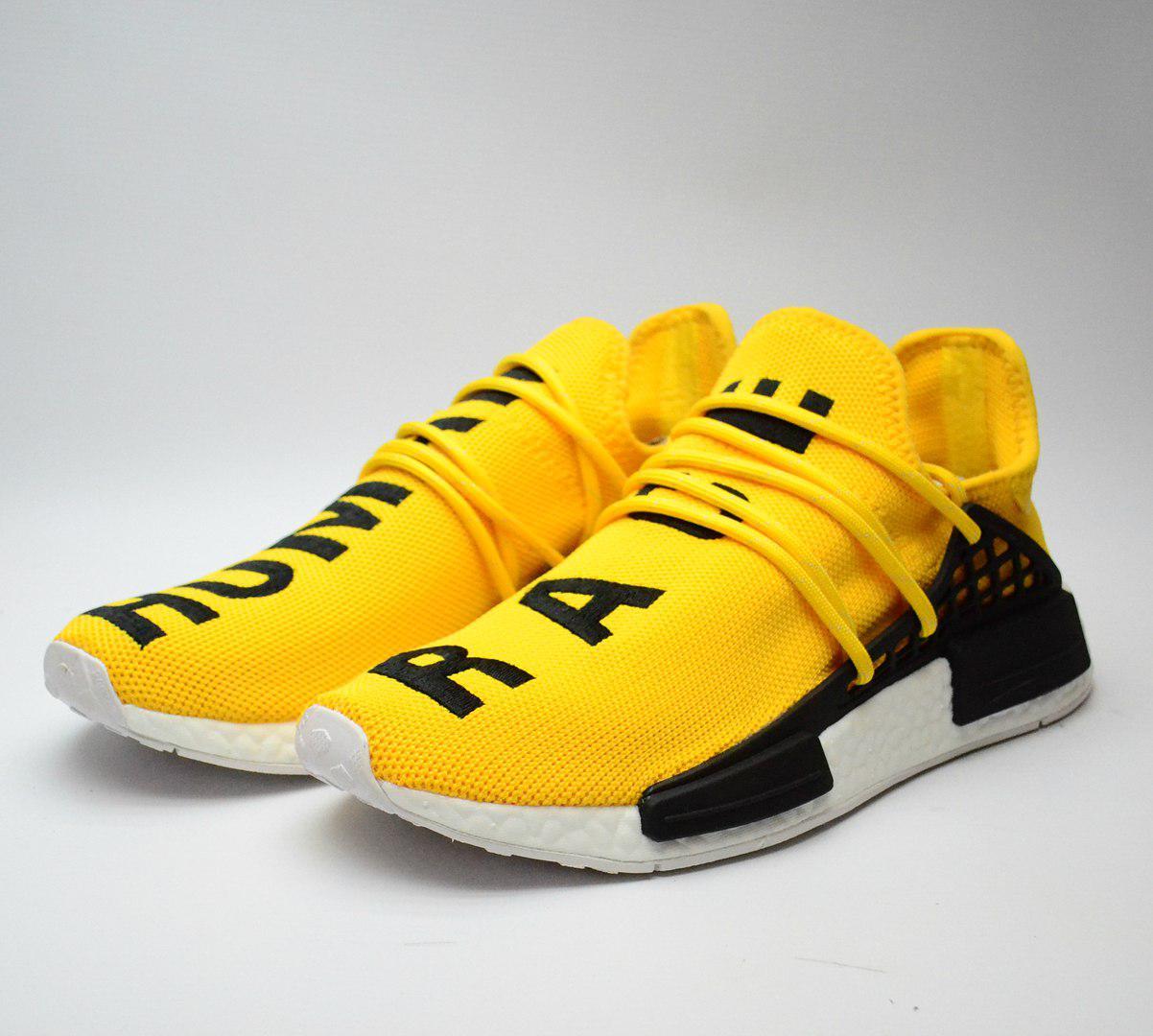0040b74b808304 Мужские Кроссовки Adidas originals ×pharrell williams nmd Human Race yellow  (копия) - Интернет