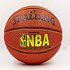 Мяч баскетбольный PU №7 SPALD BA-5471 NBA GOLD