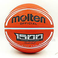 Мяч баскетбольный резиновый №7 MOLTEN B7RD-1500BRW, фото 1