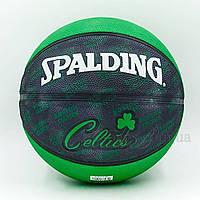 Мяч баскетбольный резиновый №7 SPALDING 73935Z NBA Team Basketball-Celtics 2013, фото 1