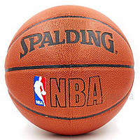 Мяч баскетбольный PU №7 SPALD BA-4255 NBA, фото 1