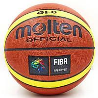 Мяч баскетбольный для женщин PU №6 MOL BA-4254 GL6