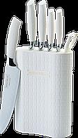Набор кухонных ножей и подставка Royalty Line с антибактериальным покрытием