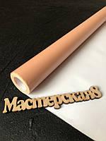 Бумага глянцевая с шиммером подарочная декоративная для упаковки, цвет персик 70см/10м