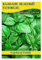 Семена базилика Геновезе зеленый, 100г
