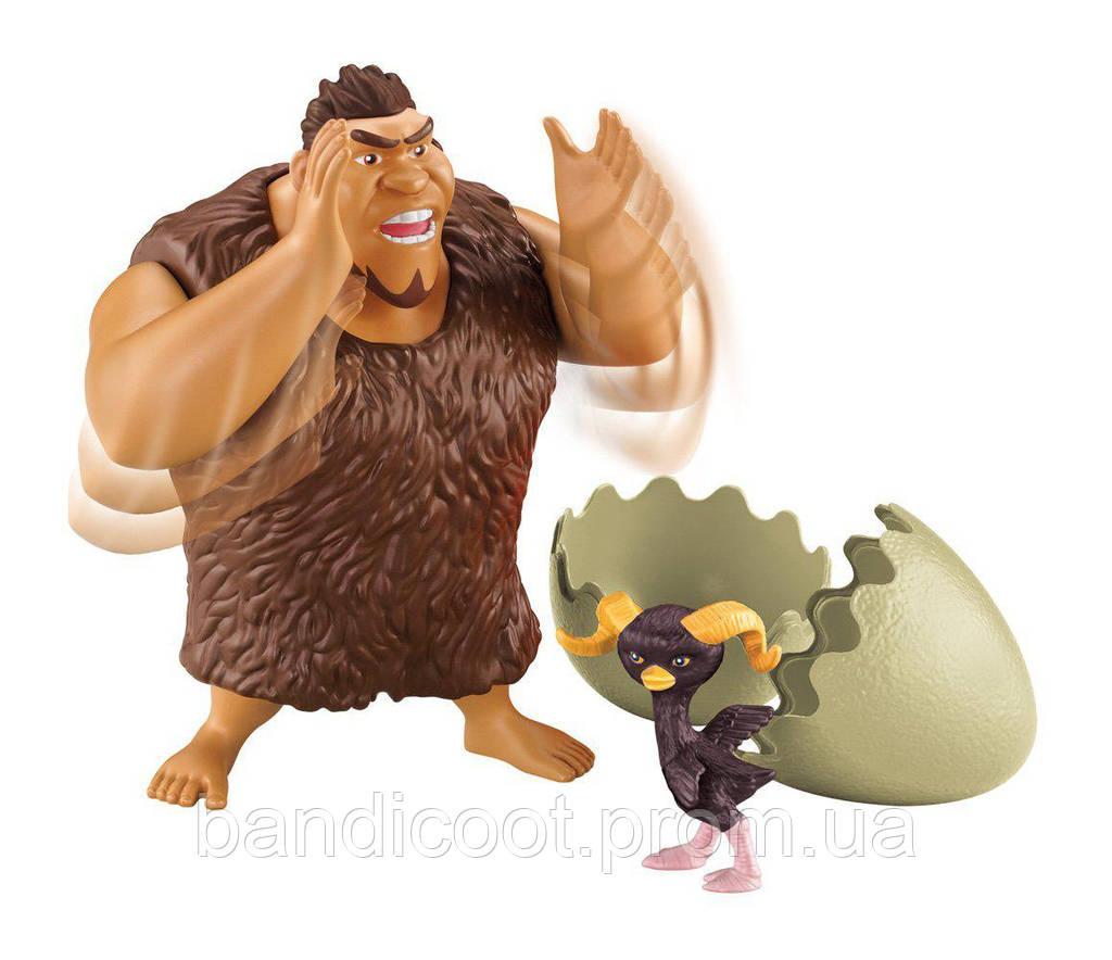 Фигурка Крудс с питомцем - Семейка Крудс Fisher-Price DreamWorks The Croods: Brute Battlers Brute Battlin' Gru