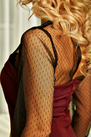 """Приталенное  женское платье """" Лара """"  цвета марсала, фото 2"""