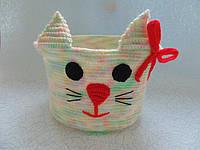 Декоративная корзинка для мелочей Кошечка
