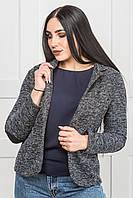 Короткий пиджак женский ZANNA BREND серый под джинсы
