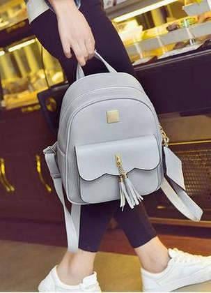Городской рюкзак с кисточками, фото 2
