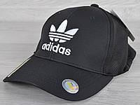 """Кепка мужская """"Adidas реплика"""". Размер 57-59 см. Черная. Оптом и в розницу."""