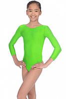 Детское трико, купальник для гимнастики и танцев Салатовый рост от 98 до 158 см