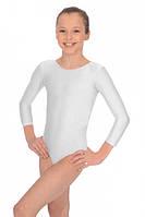 Детский белый купальник для гимнастики