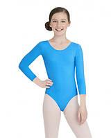 Детское трико для для гимнастики и танцев Голубой