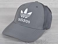 """Кепка мужская """"Adidas реплика"""". Размер 57-59 см. Серая. Оптом и в розницу."""