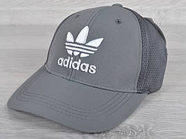 """Кепка мужская """"Adidas"""". Размер 57-59 см. Серая. Оптом и в розницу."""