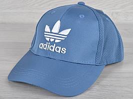 """Кепка мужская """"Adidas"""". Размер 57-59 см. Голубая. Оптом и в розницу."""
