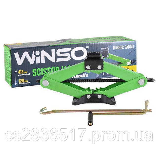 Домкрат ромбовый WINSO 2т  резиновая подушка 120-413мм