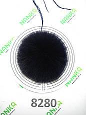 Меховой помпон Песец, Т. Синий, 11 см, 8280, фото 2