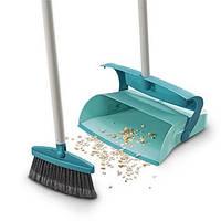 Набір щітка + совок-контейнер з ручкою LEIFHEIT / Набір для прибирання підлоги, фото 1
