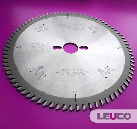 Основные дисковые пилы Leuco по ДСП и МДФ 250x3,2/2,2x30 Z=80, фото 2