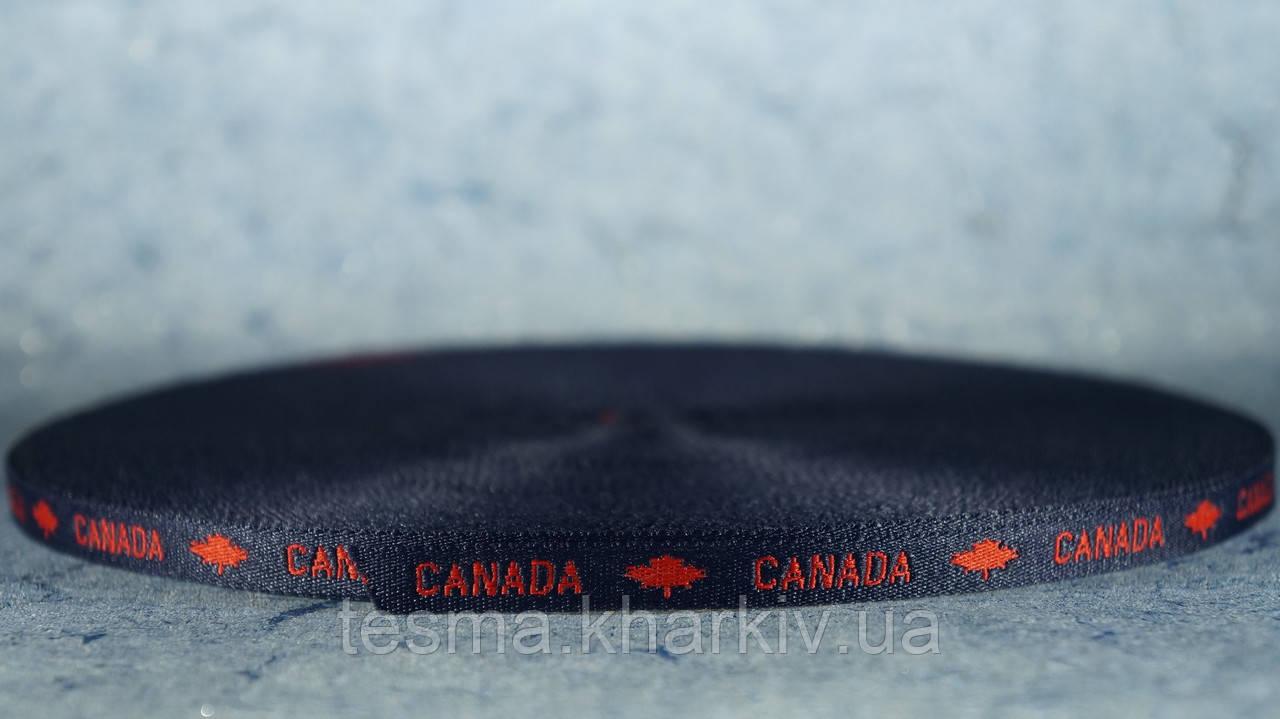 """Лента с логотипом 10 мм Синяя/красная """"Canada"""""""