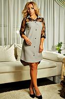 """Платье-рубашка """"Касандра"""" серого цвета"""