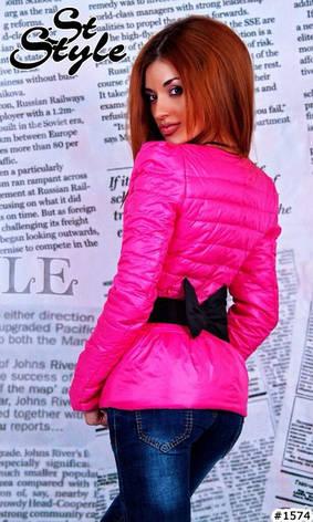 Короткая болоневая куртка с бантом, фото 2