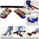 Замшевые женские туфли на гладкой платформе (разные цвета), фото 2