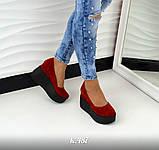 Замшевые женские туфли на гладкой платформе (разные цвета), фото 8