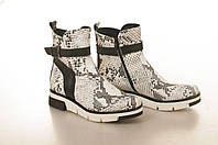 Ботинки на низком ходу, из натуральной кожи, замша, лака, на молнии. Три цвета! Размеры 36-41 модель S2107, фото 1