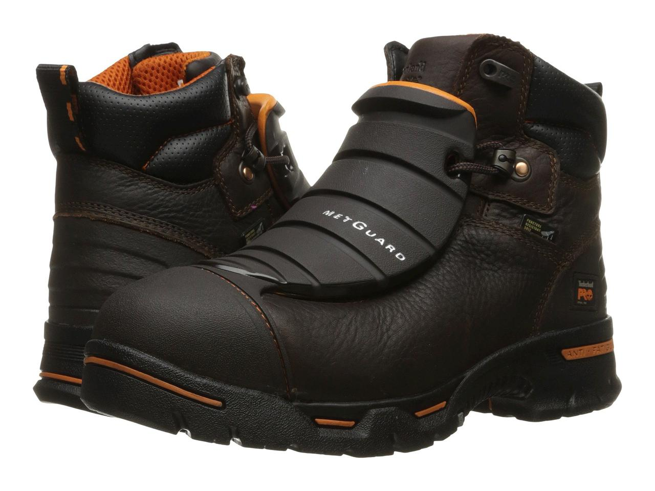 "Ботинки/Сапоги (Оригинал) Timberland PRO Endurance 6"" External Met Guard Steel Toe Brown Full Grain Leather"