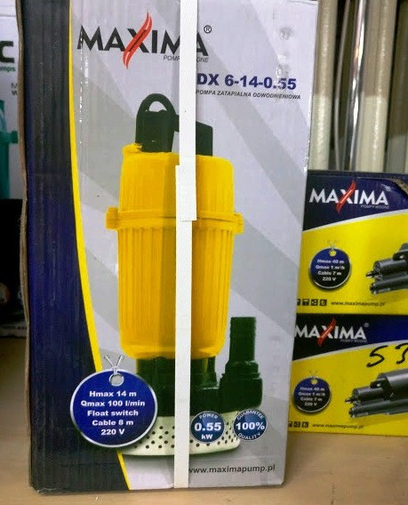 Насос дренажний Maxima QDX 6-14-0.55 0.55кВт