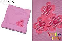 Шапка для девочки весенняя SmileTime Ушки, светло-розовая