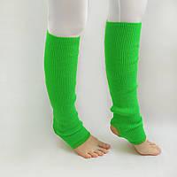 Вязаные детские гетры для девочек для танцев 35 см Зеленый для девочек до 10 лет