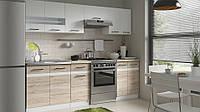 Кухня модульная Junona Line 240 белый лак/дуб Sanremo