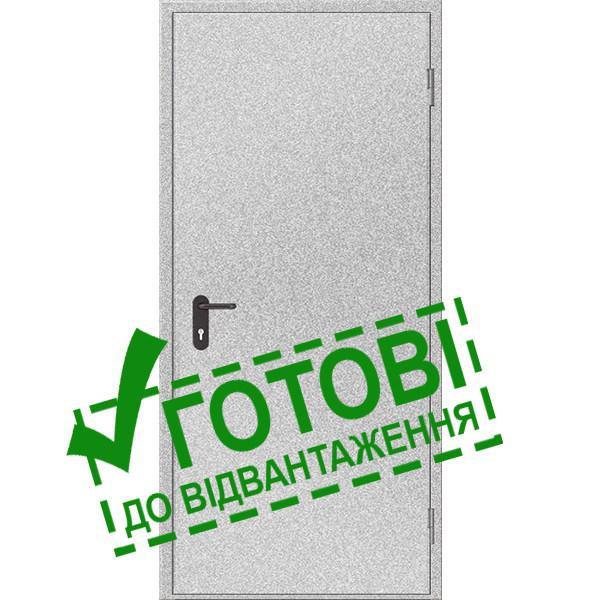 Двері протипожежні металеві глухі ДМП ЕІ30-1-2100х1000, Євростандарт (000015825)