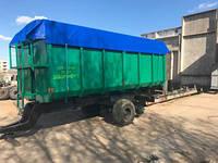 Полуприцеп зерновоз тракторный самосвальный ПТС