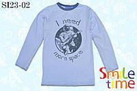 Реглан детский для мальчика р.116-122 SmleTime Ineedmorespace, голубой