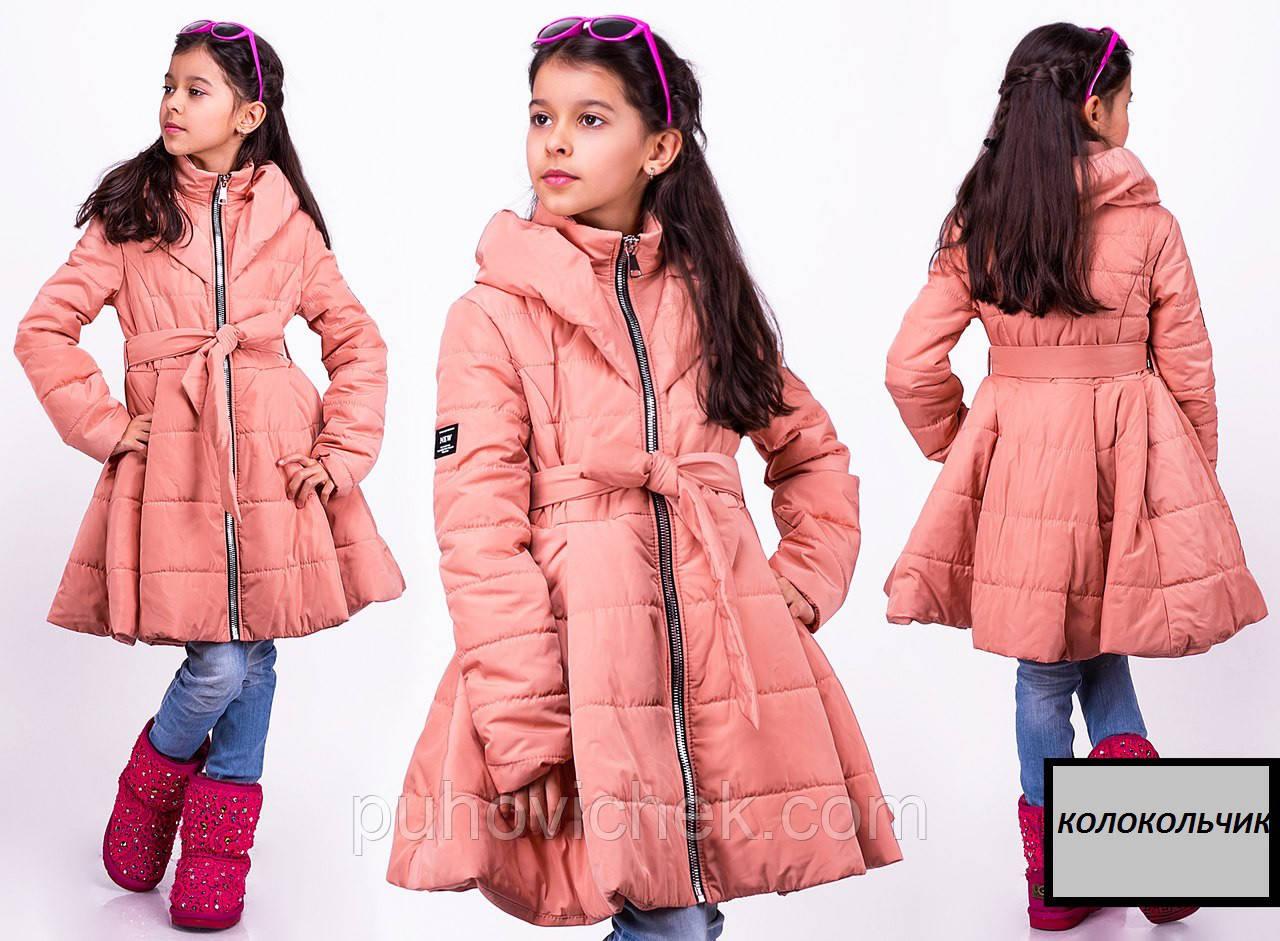 Красивая куртка детская для девочки удлиненная весна осень
