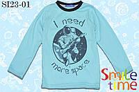 Реглан детский с принтом р.104,110,116,122 SmleTime Ineedmorespace,голубой