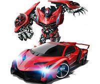 Игрушка Радиоуправляемая машинка Трансформер Robot Car Красная, Желтая