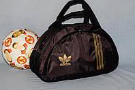 Спортивная сумка Adidas модель MB. (коричневый+золотой).