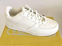 42-46рр Мужские и женские белые кроссовки (красовки кеды) копирующие Nike Air Force найк хуарач