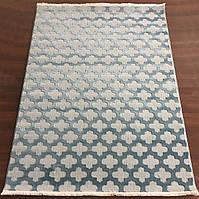 Голубой прямоугольный ковер  , фото 1