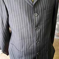 Пиджак мужской серый в полоску