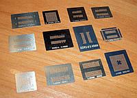 DDR набор 12шт трафаретов для реболлинга микросхем памяти DDR1 DDR2 DDR3 DDR5