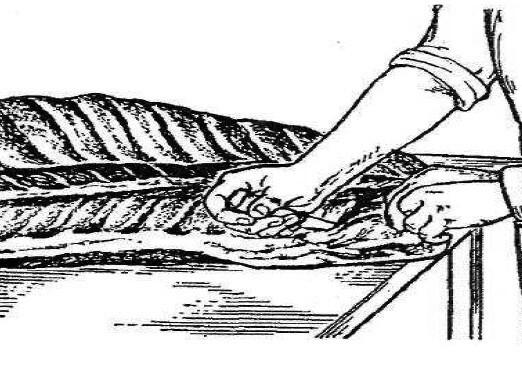 малюнок обвалки м'яса