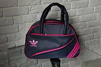 Спортивная сумка Adidas модель MB-2. (серый + розовый)