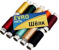 """Нитки швейные Evro №40 """"Шелк"""" (10 катушек) цветные, полиэстер, фото 1"""